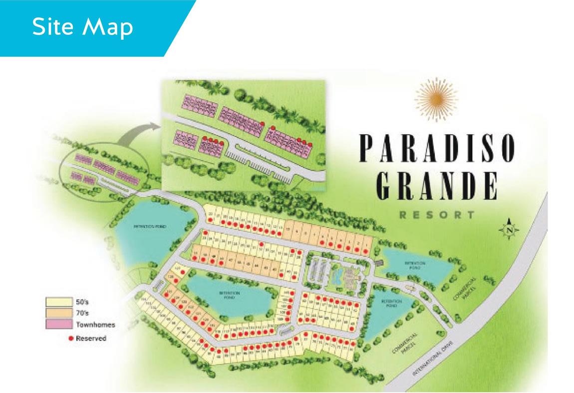 sitemap paradiso grande resort